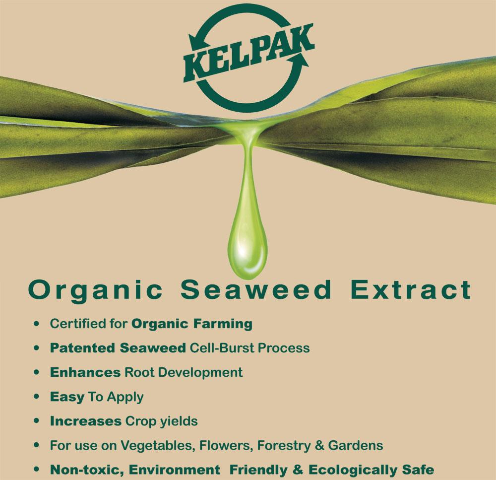 Kelpak - Seaweed extract for root development. Certified for organic farming